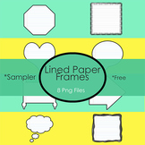Sampler!  Lined Paper Frames for your Resources!