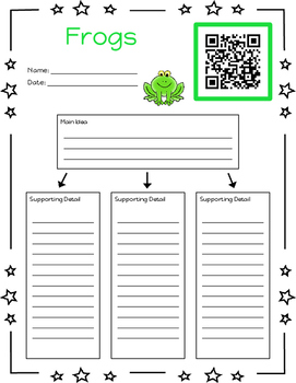 Freebie Listen to Reading Printables (Main Idea and Details Version)