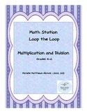 Freebie Loop the Loop Math Station Gr 4-6