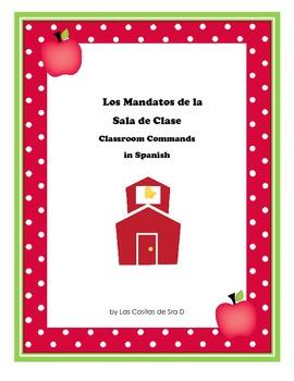 Freebie-Los Mandatos de la Sala de Clase (Classroom Commands in Spanish)