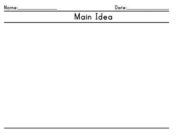 *Freebie* Main Idea Graphic Organizer