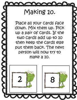 Freebie Making 10 Making 20