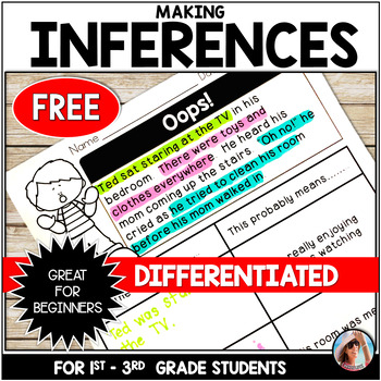 Freebie Making Inferences Mini Passages with Differentiated Graphic Organizers