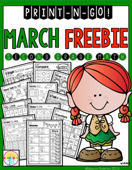 Freebie March Print and Go 2nd Grade Math