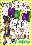 Freebie - Mardi Gras Printables (Alphabet and Numbers 0-10)