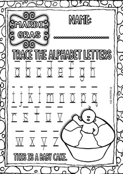 Freebie - Mardi Gras Printables (Alphabet and Numbers 0-10)
