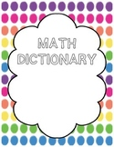 Freebie! Math Dictionary Booklet