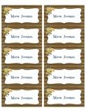Freebie Math Journal Labels