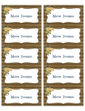 Freebie Math Journal Labels