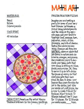 Freebie Math and Art: Fraction Pizzas