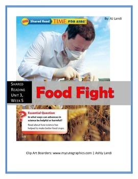 *Freebie* McGraw Hill Wonders UNIT 3, WEEK 5 Shared Reading Food Fight
