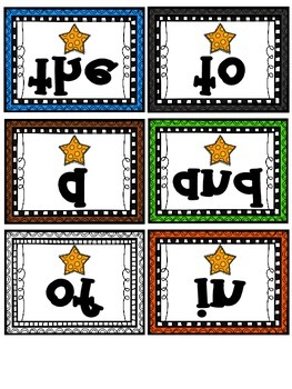 Freebie!  Mirrored Sight Words with Fry Words