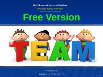 Freebie ~ Mixed Numbers to Improper Fractions
