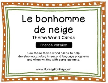 Freebie: Snowman Theme Word Cards (French)