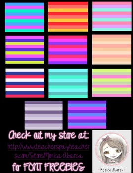 {Freebie} Monica's Stripes - 20 Digital Papers Pack