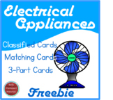 Freebie!  Montessori Electrical Appliances Language Cards