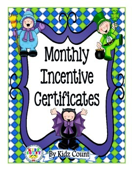 Freebie: {Monthly Incentive Certificates}