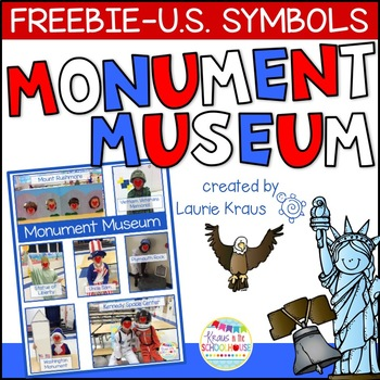 Freebie Monument Museum - Interactive Activity for U.S. Symbols Unit