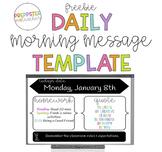 Freebie Morning Message