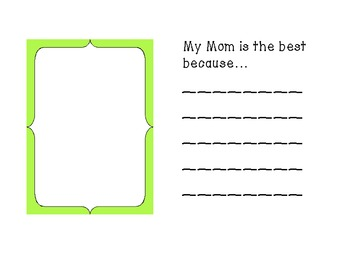 *Freebie* Mother's Day Book