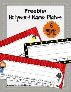 Freebie: Movie Themed Name Plates