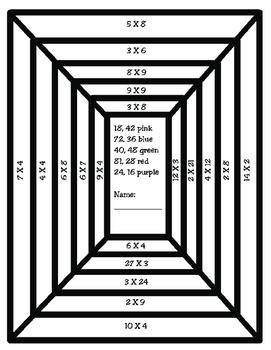 Freebie: Multiplication Rectangles (Math Art)