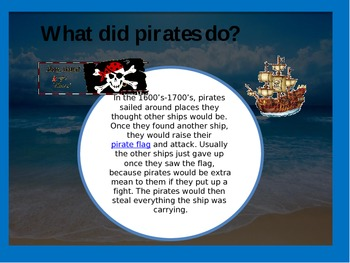 Freebie: My Day as a Pirate PowerPoint
