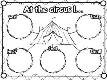 {Freebie} My Five Senses - At the Circus! {Graphic Organizer}