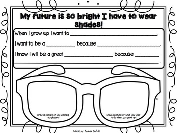 Writing: My Future Is So Bright I Have To Wear Shades!