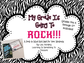 Freebie: My Grade is Going to Rock- Gift Tags for a Special Treat