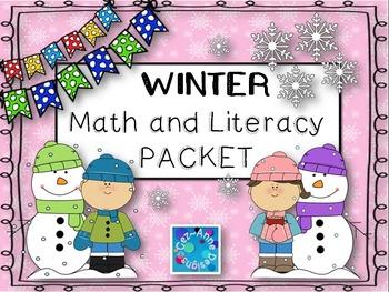 Freebie ~ NO PREP!!!  Winter Math and Literacy Packet Sample