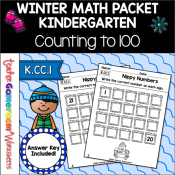 Counting Up Math Worksheets - K.CC.1