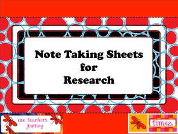 Freebie: Note-taking Sheets for Research