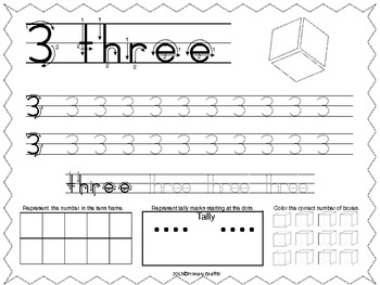 Freebie Number Formation Practice {1-10}