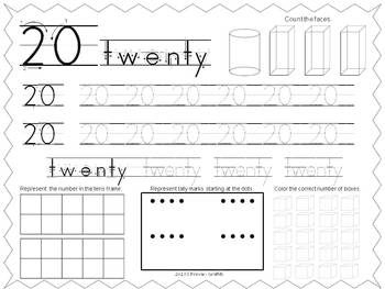 Freebie Number Formation Practice {11-20}