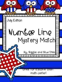 {Freebie} Number Line Mystery Match July