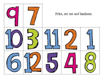 {Freebie} Number Match-up Activity