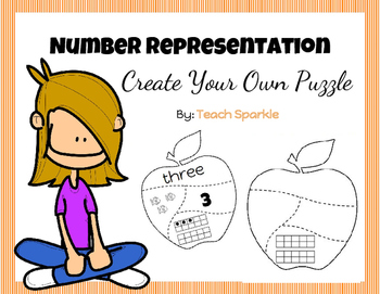Freebie Number Representation Apple Puzzles