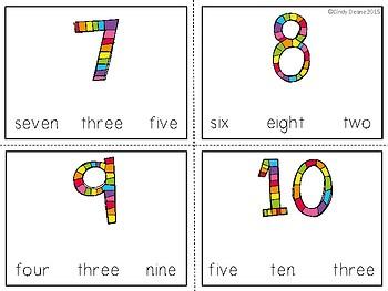 Freebie: Number Words 1-20 Task Cards