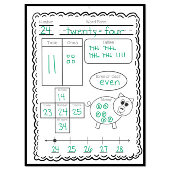 Freebie: Number of the Day Printables