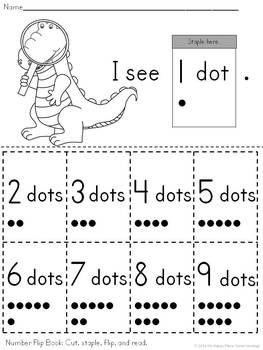 {Freebie!} Numbers 1-9 Flip Book in English and Spanish