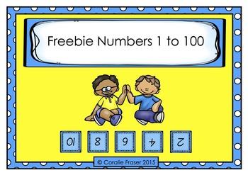 Freebie Numbers 1 to 100