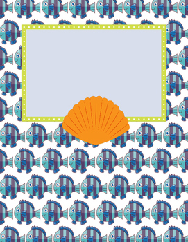 Freebie: Ocean Theme Binder Covers in blues