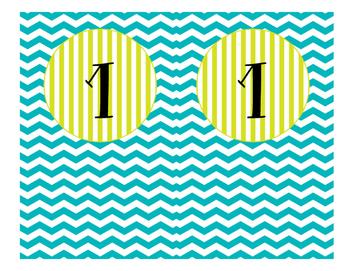 Freebie: Ocean Theme Table Signs