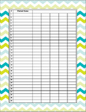 Freebie: Ocean Theme classroom data list