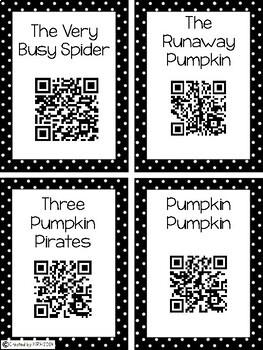 Freebie November Code Read Aloud Listening Centers
