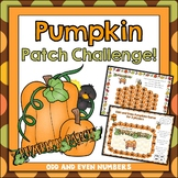 Pumpkin Math Odd and Even Numbers FREE
