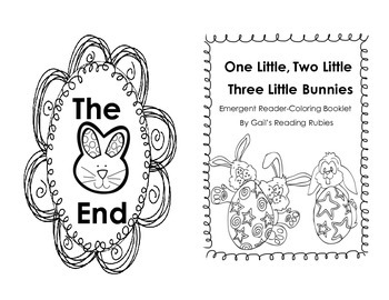 Freebie Easter Emergent Reader and Coloring Booklet