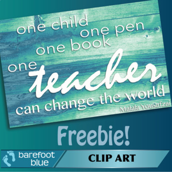 Freebie One Teacher quote
