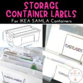 Freebie! Organizational Classroom Labels for IKEA SAMLA co